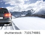 Winter Landscape And Car In...
