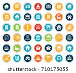 building icons | Shutterstock .eps vector #710175055