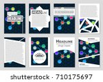 abstract vector layout... | Shutterstock .eps vector #710175697