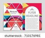 abstract vector layout... | Shutterstock .eps vector #710176981