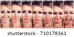 mood swings. young woman... | Shutterstock . vector #710178361