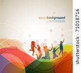 colour abstract background for... | Shutterstock .eps vector #71018716