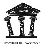 crisis and problem of bank... | Shutterstock .eps vector #710190784