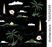 beautiful seamless island... | Shutterstock .eps vector #710191039
