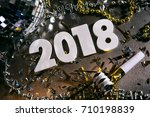 a series celebrating new year's ... | Shutterstock . vector #710198839