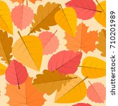 pattern with colorful maples... | Shutterstock .eps vector #710201989