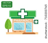 pharmacy drugstore shop icon.... | Shutterstock .eps vector #710203765