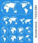set of world maps   Shutterstock .eps vector #71021584