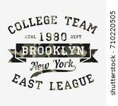 new york  brooklyn   camouflage ... | Shutterstock .eps vector #710220505