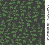 botanical seamless pattern with ... | Shutterstock .eps vector #710222977
