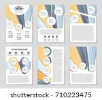 abstract vector layout... | Shutterstock .eps vector #710223475