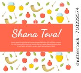 shana tova. rosh hashanah....   Shutterstock .eps vector #710223574