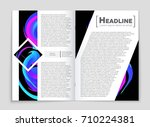 abstract vector layout... | Shutterstock .eps vector #710224381