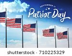 patriot day typography over... | Shutterstock . vector #710225329