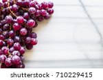 bunches of fresh ripe red... | Shutterstock . vector #710229415