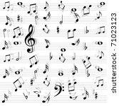 music notes seamless   Shutterstock .eps vector #71023123