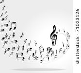 music notes background | Shutterstock .eps vector #71023126