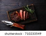 sliced grilled meat barbecue... | Shutterstock . vector #710233549