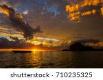 fabulous view of the sunset in... | Shutterstock . vector #710235325