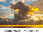 incredible sky with bright... | Shutterstock . vector #710235349