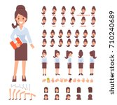 business lady character for... | Shutterstock .eps vector #710240689