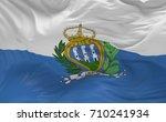 national flag of the san marino ...   Shutterstock . vector #710241934