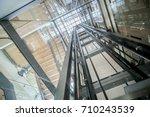 transparent lift modern... | Shutterstock . vector #710243539