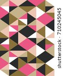 retro geometrical pattern... | Shutterstock .eps vector #710245045
