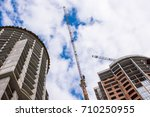 A Construction Crane On The...