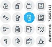 vector illustration of 16 java... | Shutterstock .eps vector #710251615