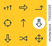 vector illustration of 9 sign... | Shutterstock .eps vector #710252335