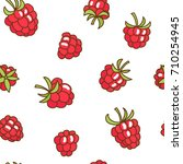 berries fruit raspberry with... | Shutterstock . vector #710254945