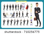 people character business set... | Shutterstock .eps vector #710256775