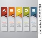 design clean number banners... | Shutterstock .eps vector #710257381