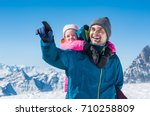 young father enjoying with... | Shutterstock . vector #710258809