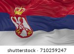 national flag of the serbia...   Shutterstock . vector #710259247