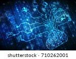 2d rendering cloud computing ... | Shutterstock . vector #710262001