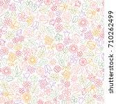 flower icon seamless pattern.... | Shutterstock .eps vector #710262499