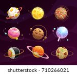 food planet galaxy concept.... | Shutterstock .eps vector #710266021