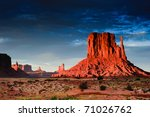 Monument Valley At Sunset  Uta...