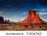 Monument Valley At Sunset  Uta...