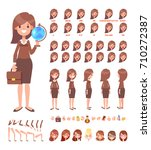 female school teacher front ... | Shutterstock .eps vector #710272387