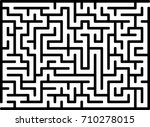 vector labyrinth maze. entry... | Shutterstock .eps vector #710278015