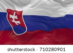 national flag of the slovakia...   Shutterstock . vector #710280901