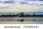 The Jefferson Memorial At Long...
