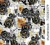 seamless pattern wild design.... | Shutterstock . vector #710281579