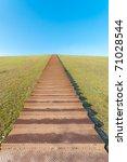 huge stairway leading to the...   Shutterstock . vector #71028544