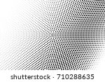 halftone pattern with black dot ... | Shutterstock .eps vector #710288635
