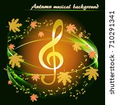 abstract musical background... | Shutterstock .eps vector #710291341