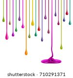 streaks of multi colored paint... | Shutterstock . vector #710291371